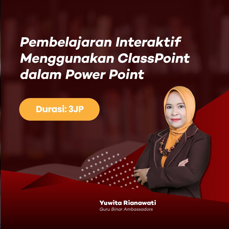 Photo Pembelajaran Interaktif dengan Menggunakan ClassPoint dalam Power Point