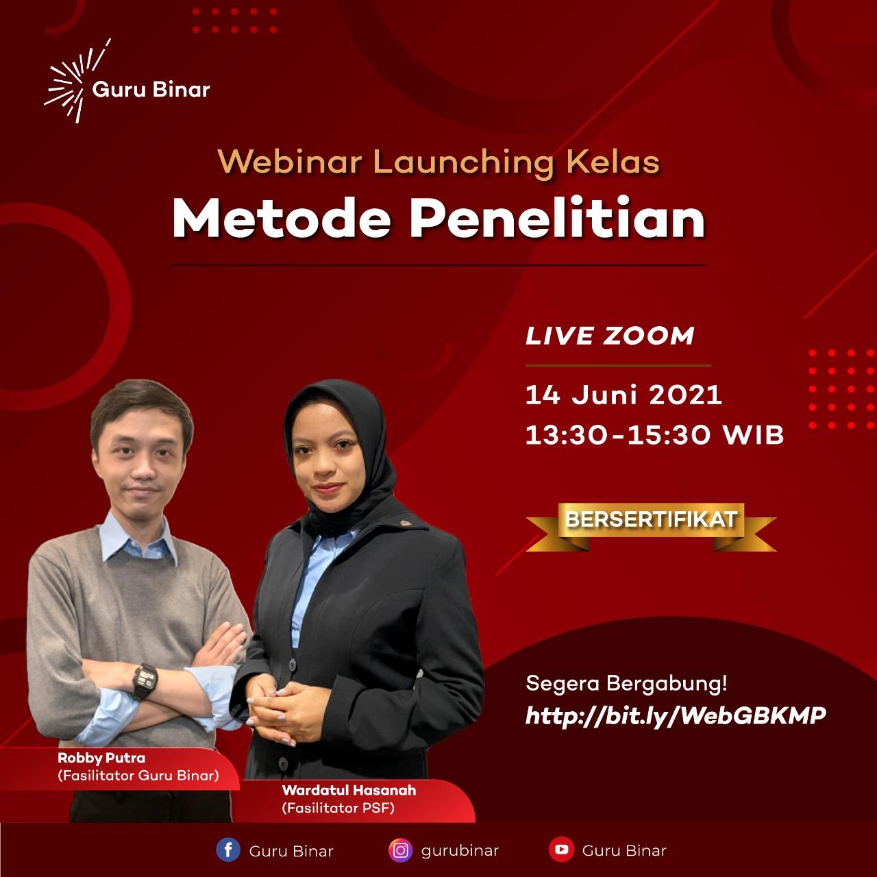 Photo Webinar Launching: Metode Penelitian